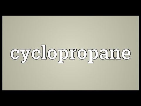 Cyclopropane Meaning