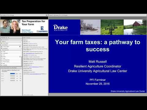 Tax Preparation for Your Farm - Practical Farmers of Iowa