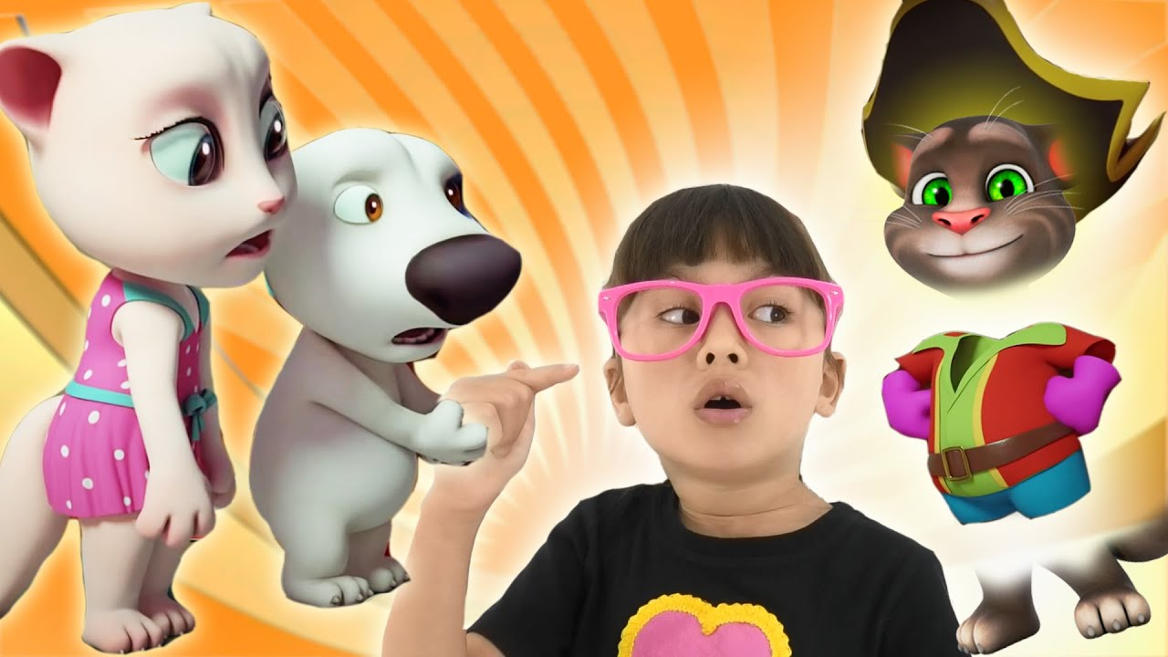 My Talking Tom Toy Becomes Invisible! Pretend play games for Kids. Abby Hatcher VS Talking Tom