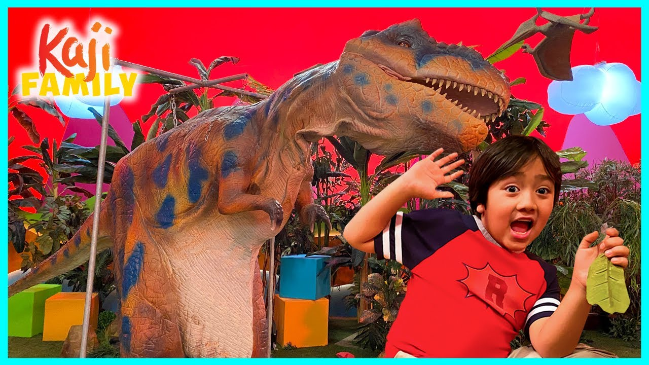 Giant Dinosaur T-REX on Ryan's Mystery Playdate Episode!!!