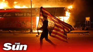 Rioters set Minneapolis police station ablaze on third night of justice for George Floyd fury