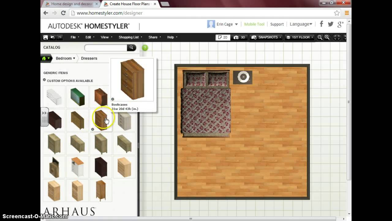Autodesk Homestyler Screencast - YouTube