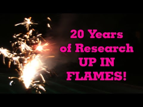 Burning 20 years of scientific research papers Team SPOM! ritual fire healing from ashes