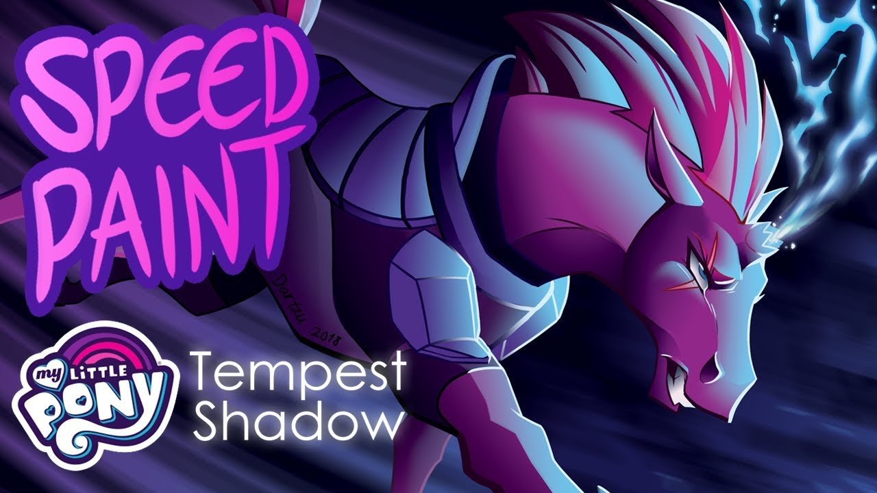 Speedpaint Tempest Shadow My Little Pony The Movie Fan Art Youtube