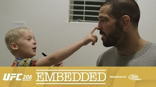 UFC 206 Embedded: Vlog Series - Episode 3(On Episode 3 of UFC 206 Embedded, welterweight Matt Brown does some last-minute media training with his son Hunter. Featherweight title contender Anthony ..., 2016-12-08T16:10:55.000Z)