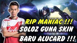 SOLOZ GUNA SKIN BARU ALUCARD RIP MANIAC !!! ALUCARD BUILD MOBILE LEGENDS