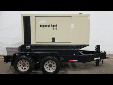 Ingersoll Rand S40, 33 kW rental grade diesel generator, 917 Hrs, Yr 2005 -  CSDG # 2369