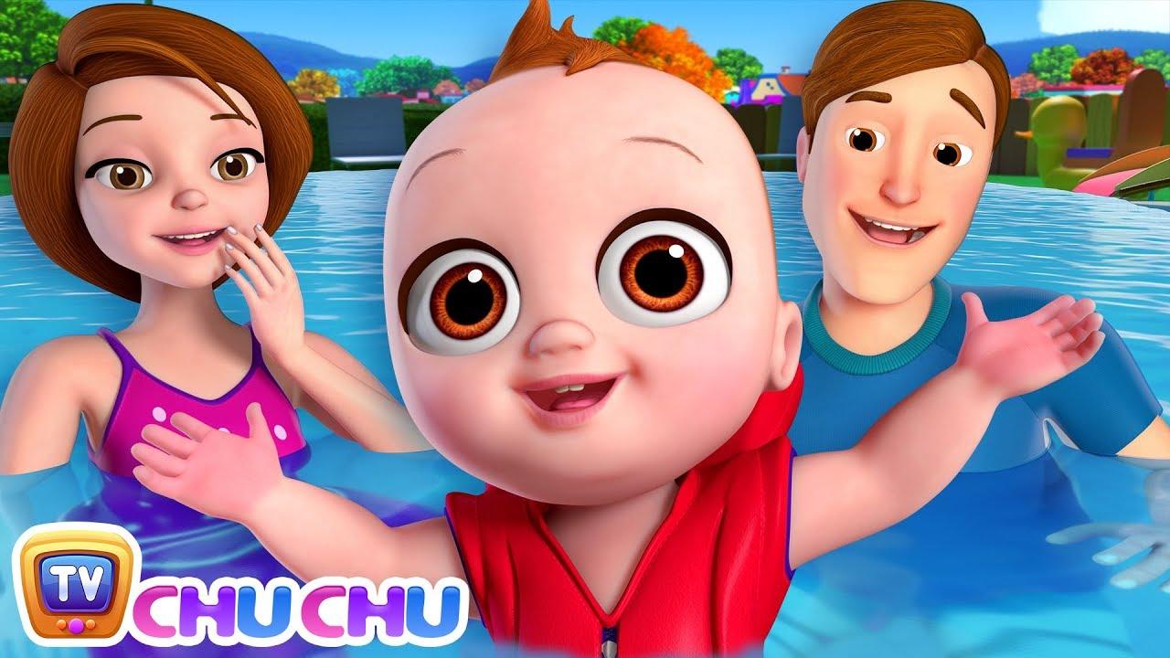 Baby Goes Swimming Song | ChuChu TV Nursery Rhymes & Kids Songs