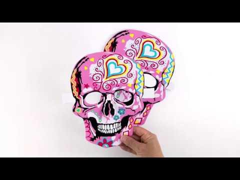 Making Paper Skull Masks