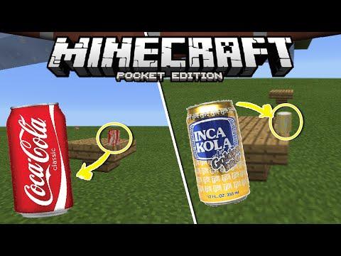 Cómo hacer Coca Cola/Inca Kola en Minecraft PE   Tutorial de Soda/Gaseosa   Pocket Edition 0.16.0