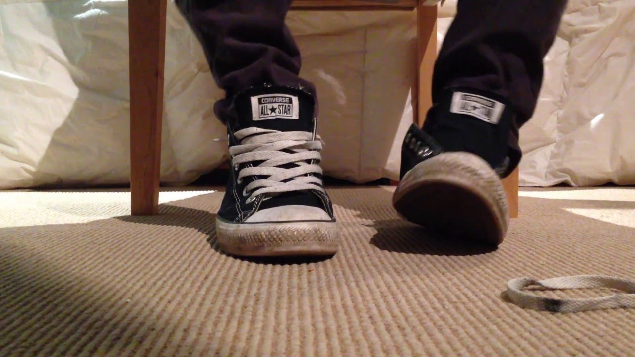 89f6072cb33bab Lacing my converse loose - YouTube