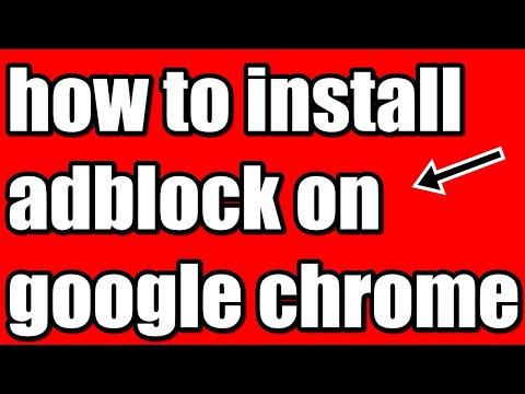how to install adblock on google chrome