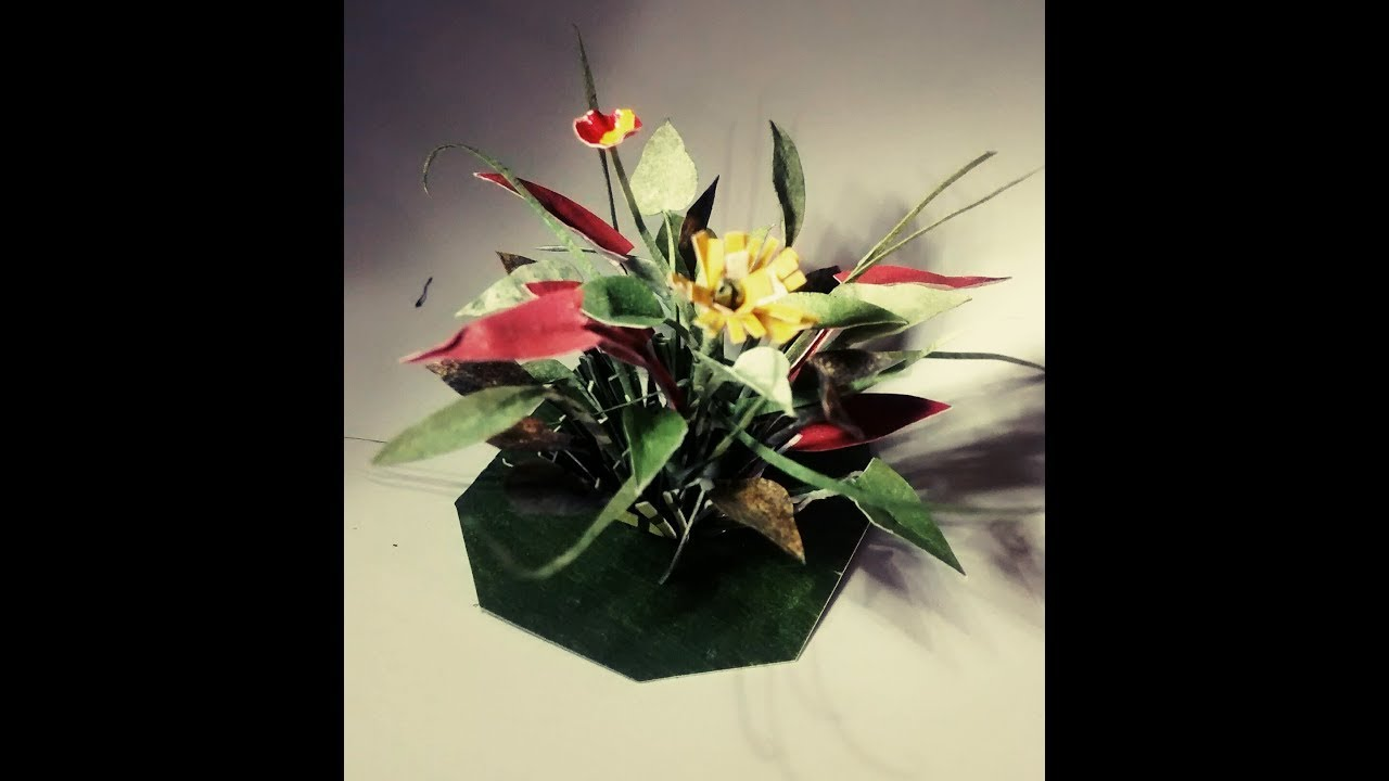 How To Make Miniature Flower Bouquet From Paper Youtube