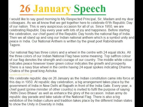 republic day speech for students english speech jan dk  republic day speech for students english speech 26 jan 2016 dk 13