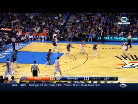 Oklahoma City Thunder give up 10 point swing, ignore Kevin Durant twice vs. Phoenix Suns