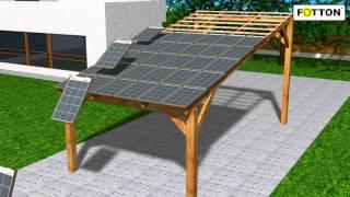 Panel dachówkowy FOTTON FTDS55 - dachówka solarna, bateria słoneczna, solar tile.