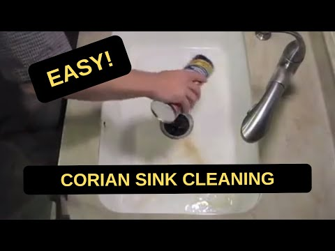 How To Refinish Kitchen Sink Table And Chair Sets Corian Solid Surface Cleaning - Youtube