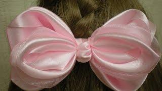 Нежный БАНТ КАНЗАШИ из Лент Своими Руками. /DIY /Kanzashi / Make Hair Bow /Tutorial/