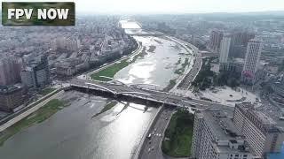 중국-연변-연길 (서쪽부터-동쪽까지) 드론촬영