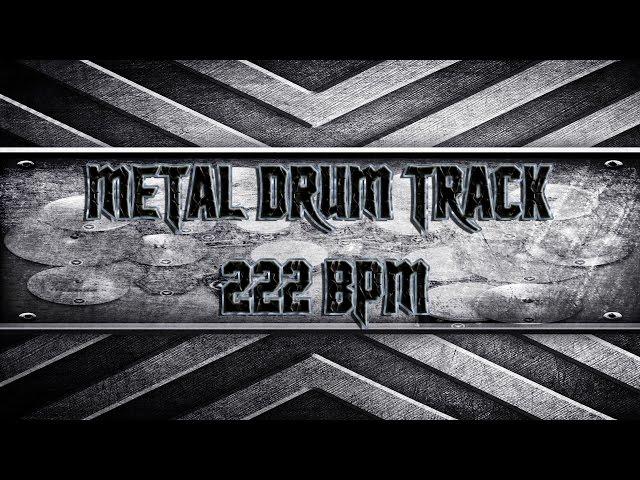 Technical Death Metal Drum Track 222 BPM (HQ,HD)