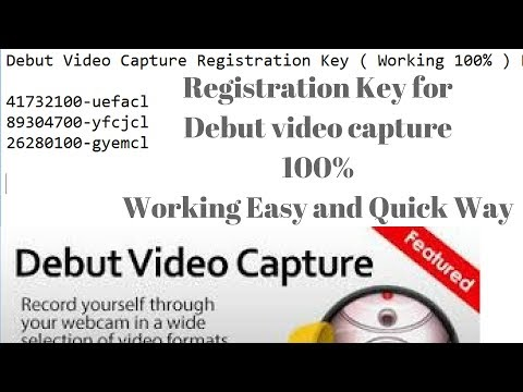 debut video capture software pro 1.82 (full + serial)