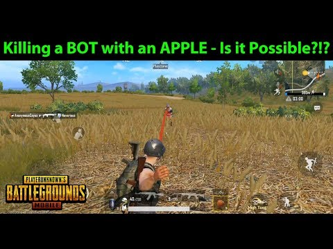 Killing a BOT with an APPLE - Is it Possible?!? How to Get Apples in PUBG Mobile | DerekG