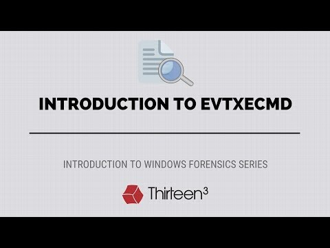 Introduction to EvtxECmd