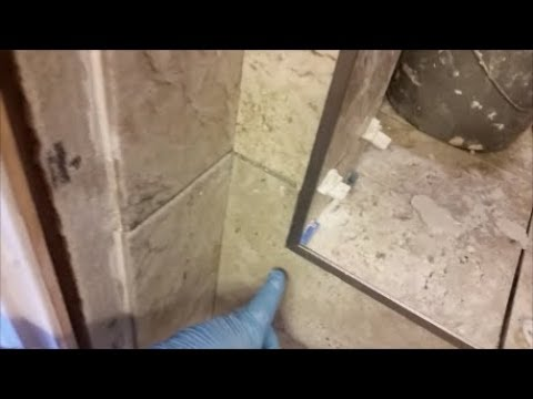 install tile edge trims on a shower outside corners wall and curb step by step
