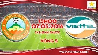truc tiep binh phuoc vs viettel - hnqg 2016