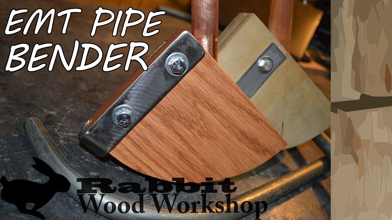 Make a wood pipe bender for emt conduit - YouTube