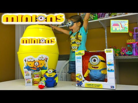 Thumbnail: NEW MINIONS BIGGEST SURPRISE EGG PARTY EVER Minions PlayDoh Surprise Egg Kinder Surprise Eggs Game