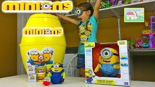 New Minions Biggest Surprise Egg Party Ever Minions Playdoh Surprise Egg Kinder Surprise Eggs Game