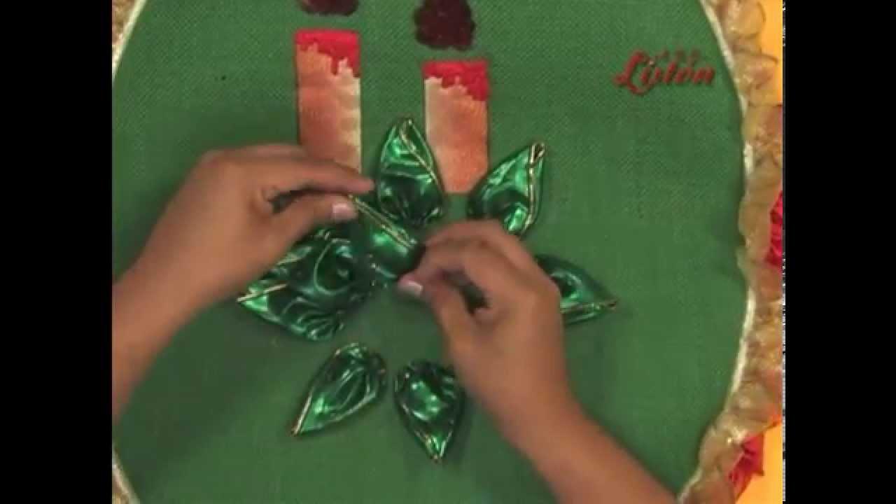 Juego De Bano Bordado En Liston Navideno Navidad Christmas Youtube