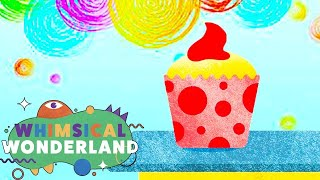 Learn Colors for Children with Colorful Cupcakes | Learning Compilation | Whimsical Wonderland