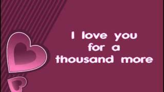 A Thousand Years - Christina Perri (Lyrics)