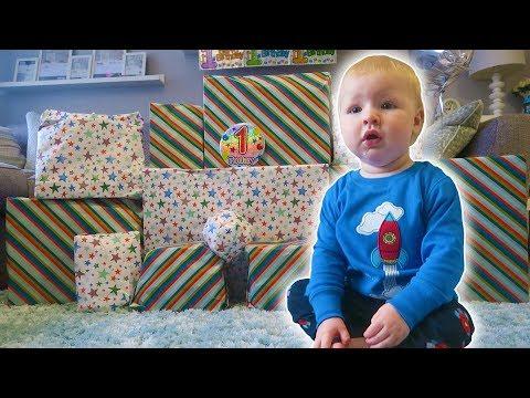 JACKSON's 1ST BIRTHDAY MORNING OPENING PRESENTS