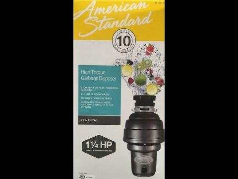 american standard garbage disposal review youtube