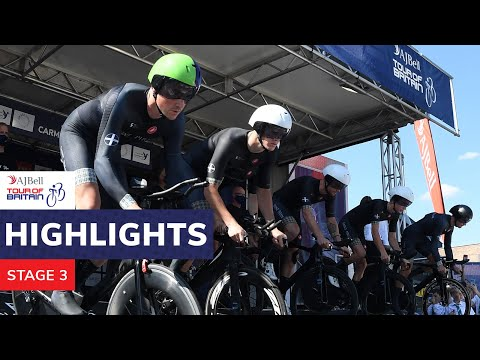 AJ Bell Tour of Britain | 2021 stage three highlights | Carmarthenshire TTT