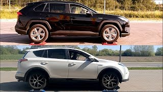 New 2019 Toyota Rav4 Hybrid AWD vs 2017 Toyota Rav4 Hybrid AWD - 4x4 test on rollers