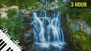 (3 Hour) Relaxing Piano Music for Destress with Beautiful Waterfall Scene #40 thumbnail