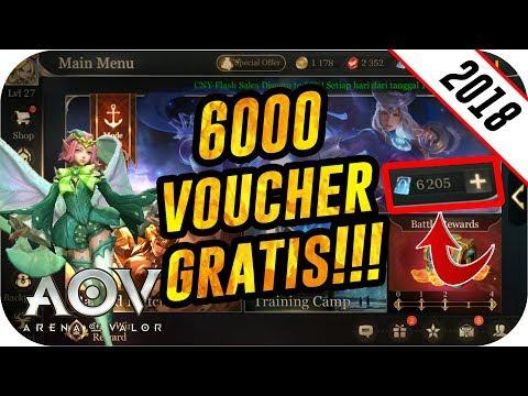 Tutorial 6000 Voucher Gratis 100% Legal Cuma 5 Menit!!! - Arena Of Valor Trik