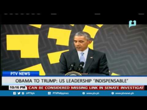 Obama to Trump: US leadership 'indispensible'