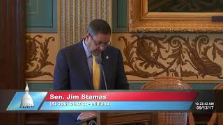 Sen. Stamas delivers tribute to Rose Marie McQuaid