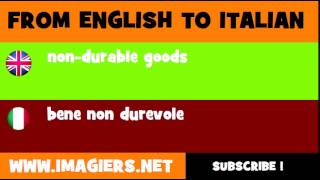 How to say non durable goods in Italian
