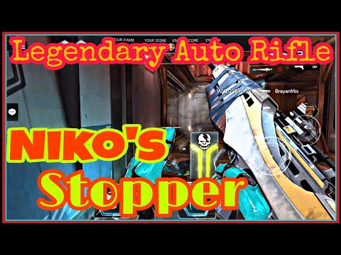 Shadowgun Legends | Legendary Auto Rifle: Niko's Stopper!!! [Testing in PvP] (Got in Blade Dancer)