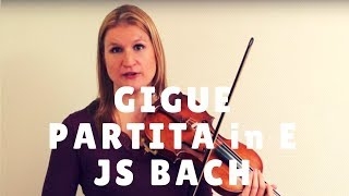 Gigue from Bach's Partita in E Major - Video Exchange | Violin Lounge TV #259