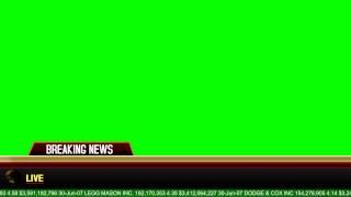 Breaking News Banner - Green Screen Animation