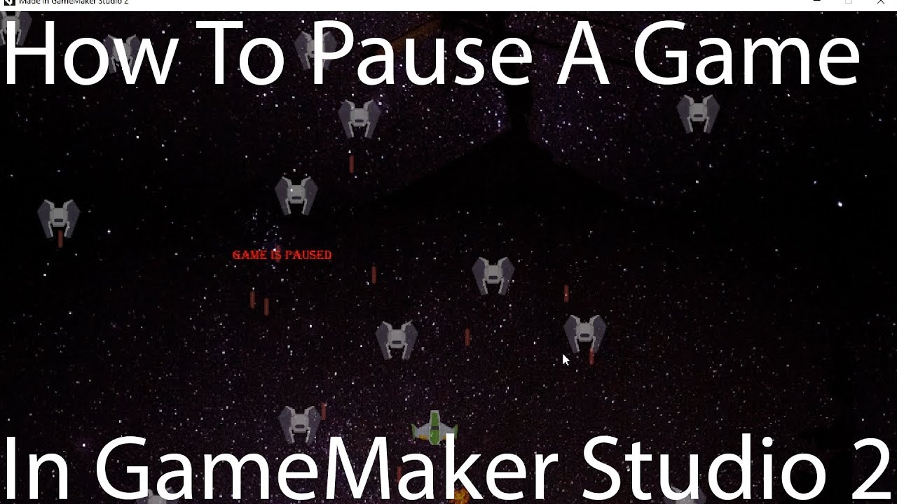 How To Pause Your Game – GameMaker Studio 2
