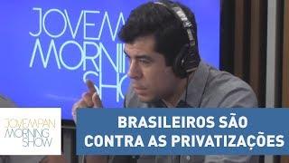 Pesquisa do Datafolha revela que 70% dos brasileiros são contra as privatizações