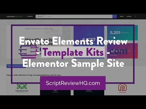 Envato Elements Review - Template Kits - Elementor Sample Site thumbnail